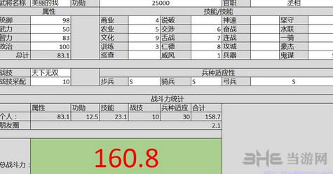 三国志13战力计算器excel版截图0