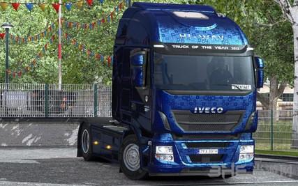 欧洲卡车模拟2达夫欧6蓝白内饰MOD截图0