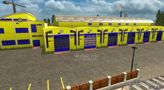 欧洲卡车模拟2全新大型车库MOD截图0
