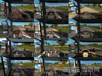 欧洲卡车模拟2真实车头驾驶室截图0