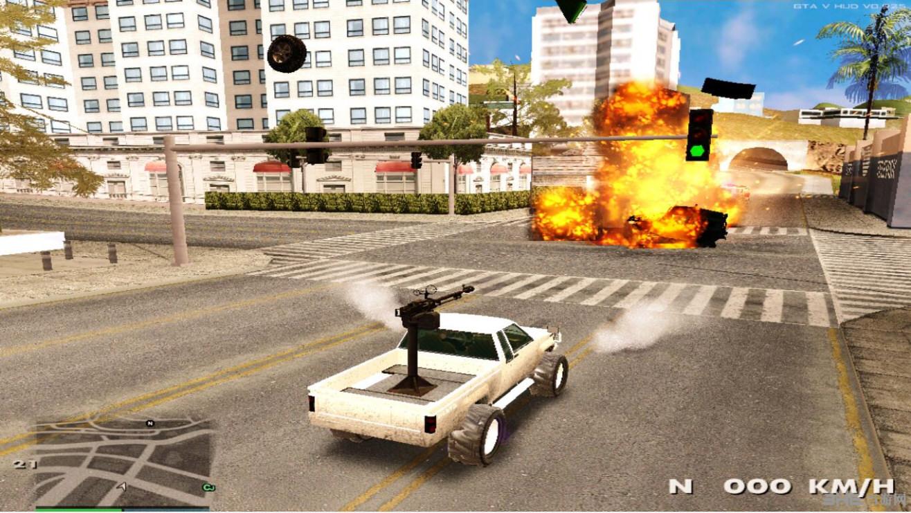 侠盗猎车手圣安地列斯仿GTA5卡林反叛者MOD截图3