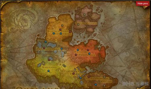 魔兽世界2016万圣节糖罐分布地图1