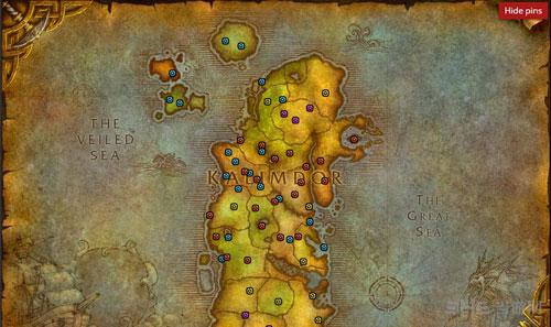 魔兽世界2016万圣节糖罐分布地图3