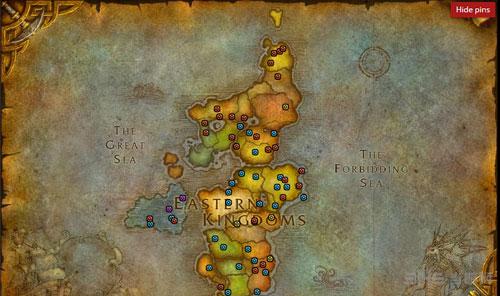 魔兽世界2016万圣节糖罐分布地图2