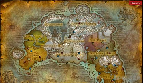 魔兽世界2016万圣节糖罐分布地图5