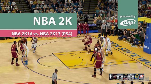 NBA2K172K16对比截图1