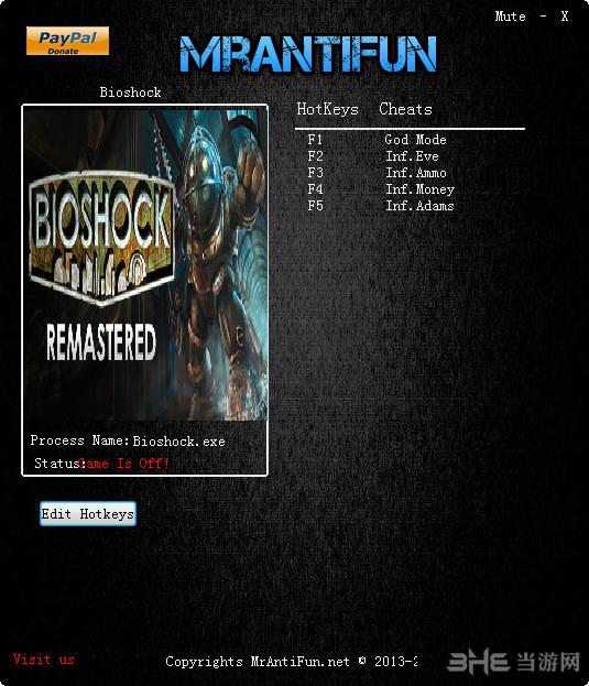 生化奇兵1:重制版五项修改器截图1