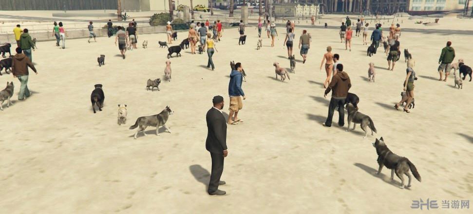 侠盗猎车手5携带宠物的行人MOD截图0