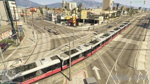 侠盗猎车手5可以驾驶地铁MOD截图0