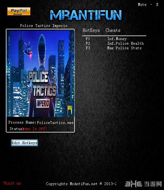 警察战术:帝国三项修改器截图0
