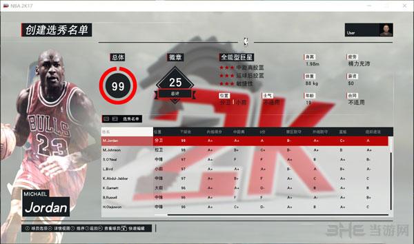 NBA 2K17退役巨星选秀名单mc存档截图1