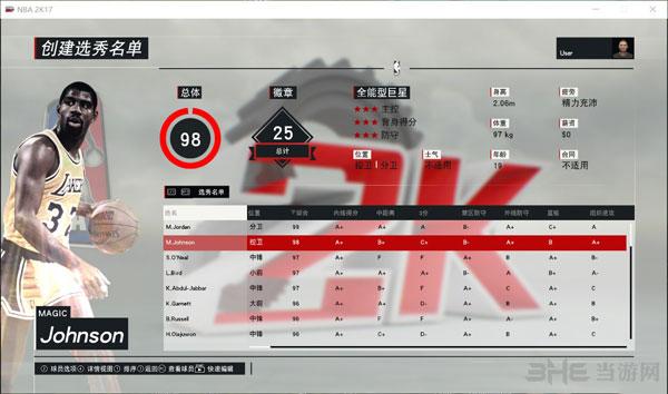 NBA 2K17退役巨星选秀名单mc存档截图2