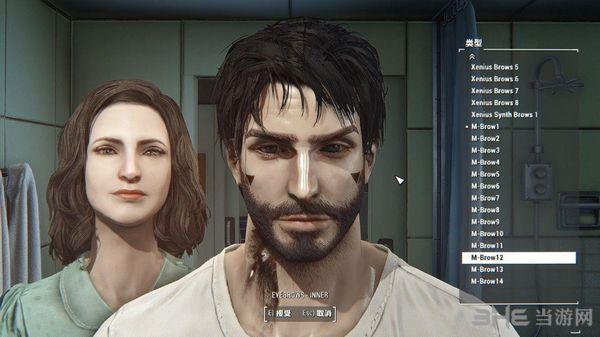 辐射4男性眉毛拓展包MOD截图1