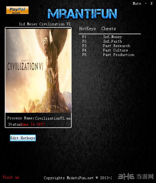 文明6五项修改器截图0