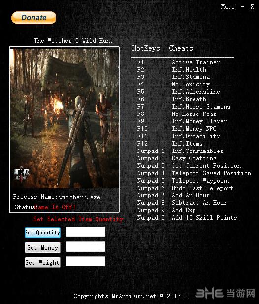 巫师3:狂猎二十四项修改器截图0
