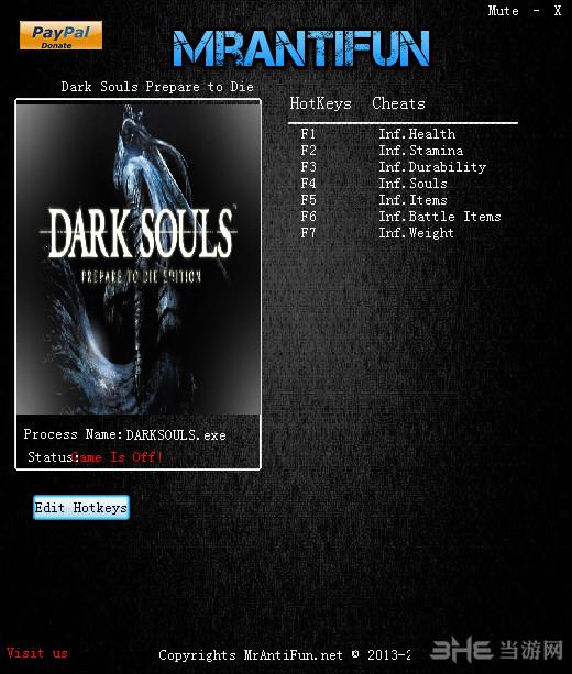 黑暗之魂受死版七项修改器截图0