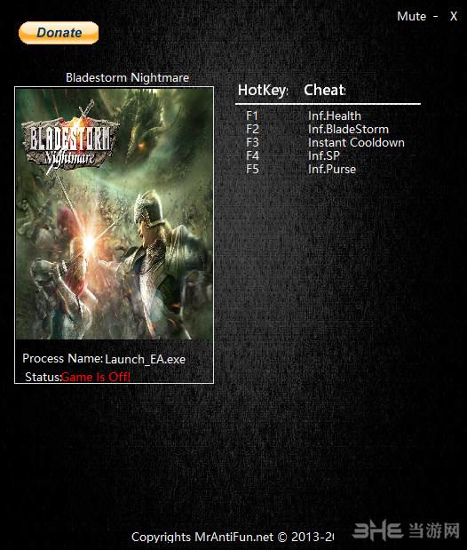 剑刃风暴:噩梦三项修改器截图0