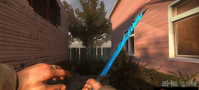 求生之路2蓝色发光小砍刀MOD截图1