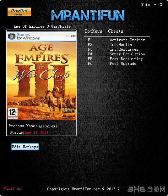 帝国时代3酋长五项修改器截图0