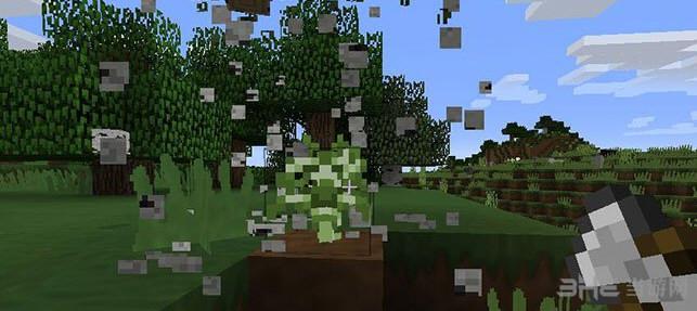 我的世界v1.9.4一键砍树铁斧头MOD截图1