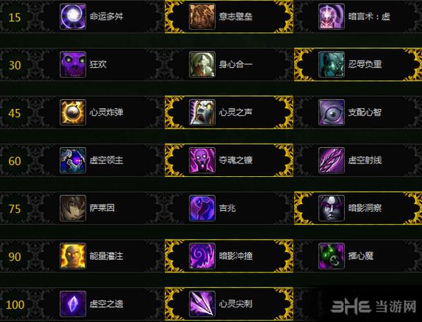 魔兽世界7.1暗影牧天赋加点截图1