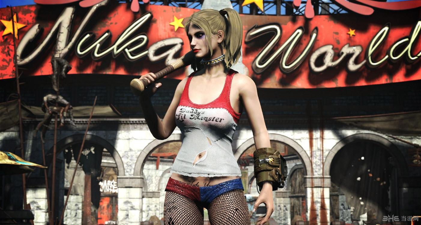 辐射4小丑女哈莉奎茵套装MOD截图1