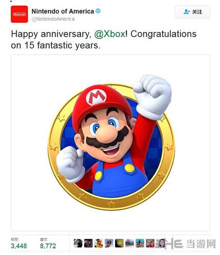 任天堂祝福Xbox十五周年