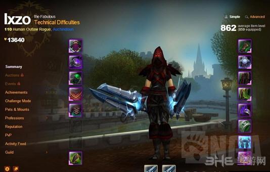 魔兽世界狂徒贼风剑外观截图7