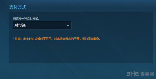 Steam支付页面截图2