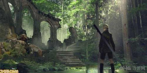 《尼尔:机械纪元》再曝截图 神秘森林呆萌机械生物