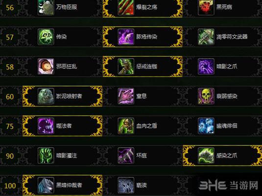 魔兽世界7.1邪恶DK天赋截图1