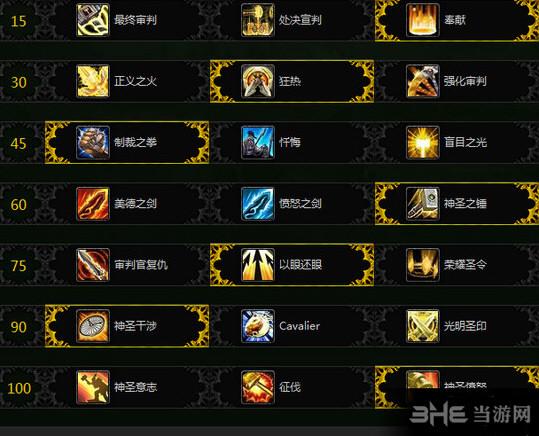 魔兽世界7.1惩戒骑天赋加点截图1