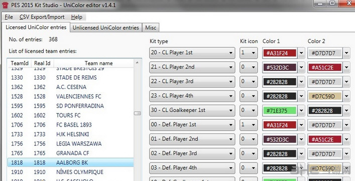 实况足球2015球衣工作室―UniColor编辑器截图0