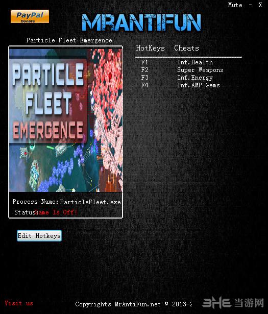 粒子舰队崛起四项修改器截图0