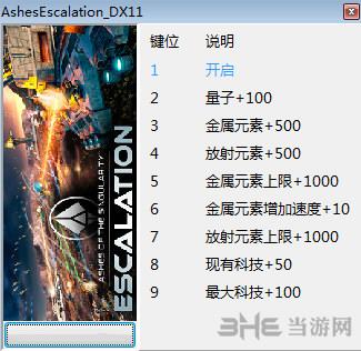 奇点灰烬:扩展版八项修改器截图0