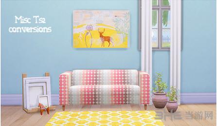 模拟人生4糖果色长沙发MOD截图0