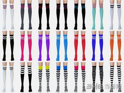 模拟人生4 56色过膝花袜MOD截图1