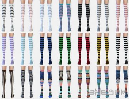 模拟人生4 56色过膝花袜MOD截图2