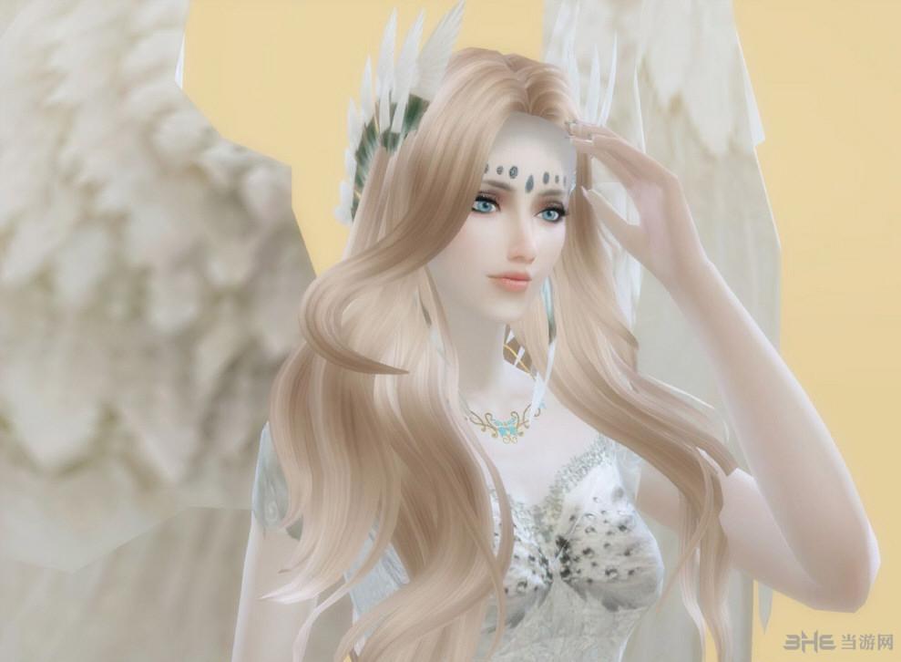 模拟人生4洁白双翼天使人物MOD截图2