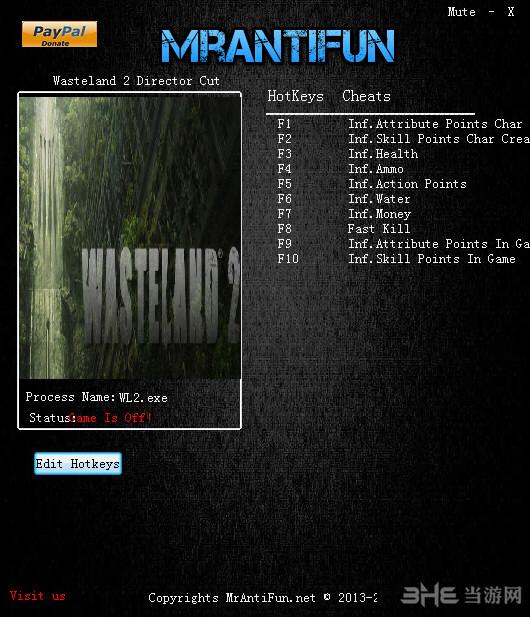 废土2:导演剪辑版十项修改器截图0