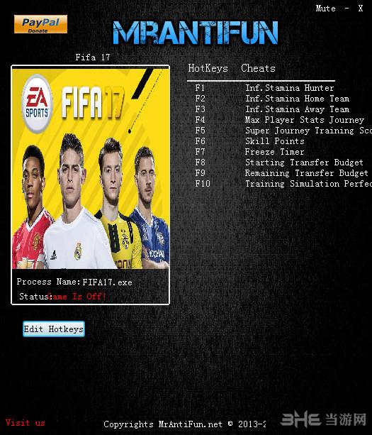 Fifa 17十项修改器截图0