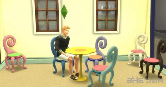 模拟人生4造型怪异的凳子MOD截图0