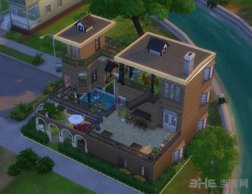 模拟人生4 3层绿茵楼房MOD截图0