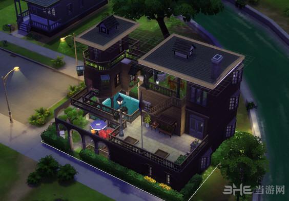 模拟人生4 3层绿茵楼房MOD截图2