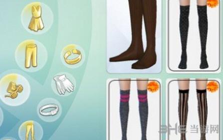 模拟人生4过膝花纹袜MOD截图0