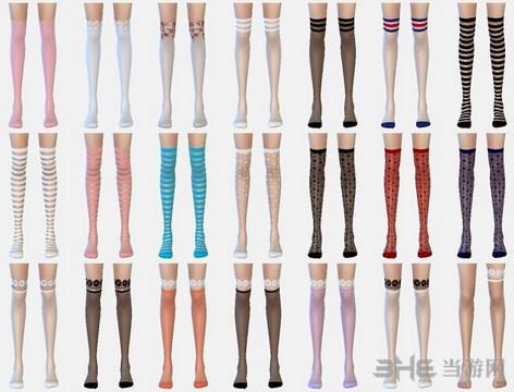 模拟人生4过膝花纹袜MOD截图2