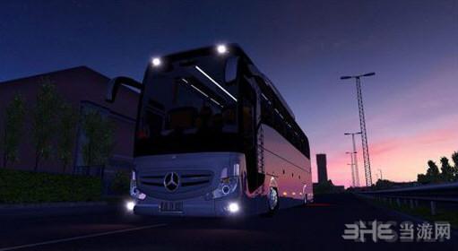欧洲卡车模拟2 v1.25奔驰牌大巴MOD截图2