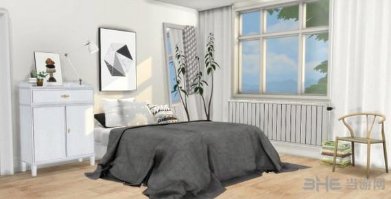 模拟人生4黑白灰床上用品MOD截图0