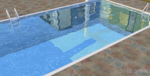 模拟人生4灰白色泳池MOD截图0
