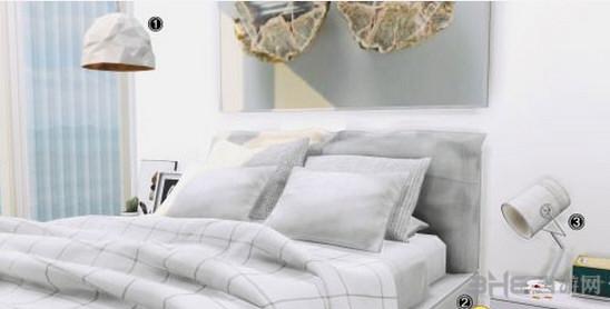 模拟人生4白色床上用品MOD截图1